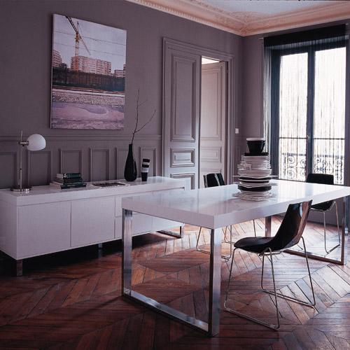 Conseil d co habitat ancien mobilier contemporain for Habitat contemporain