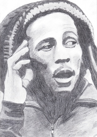 dessin portrait de bob marley. Black Bedroom Furniture Sets. Home Design Ideas