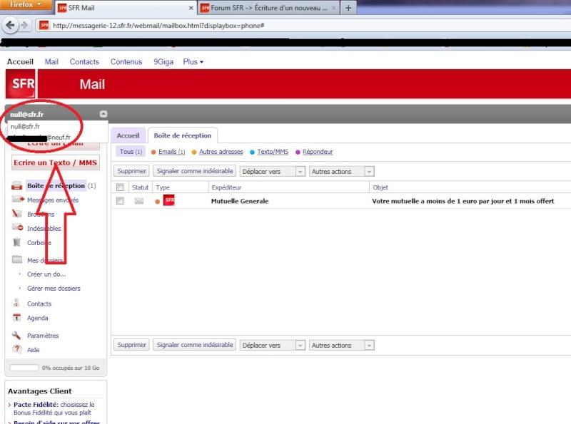 ADSL & Fibre - Accès a une messagerie qui n'est pas la mienne ...