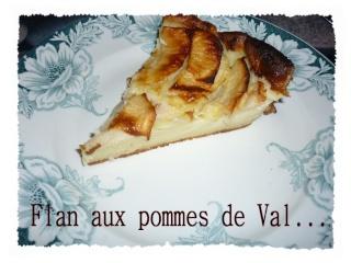 Blog de valsixt : Les gourmandises de Val, Flan aux pommes