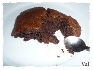 Blog de valsixt : Les gourmandises de Val, Fondant chocolat amande