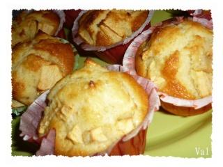 Blog de valsixt : Les gourmandises de Val, Muffins aux pommes
