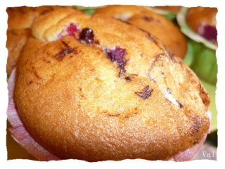 Blog de valsixt : Les gourmandises de Val, Muffins aux fruits rouges