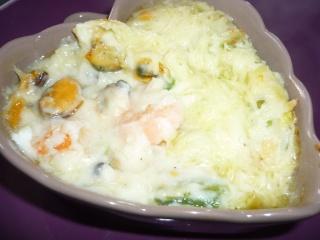 Blog de valsixt : Les gourmandises de Val, Cassolettes de crevettes et de moules.