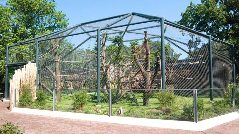 Zoologischer garten berlin nouvelle voli re pour orangs for Zoo exterieur