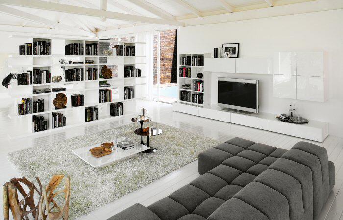 Extrêmement meuble tv blanc sur mur blanc – Artzein.com SS35