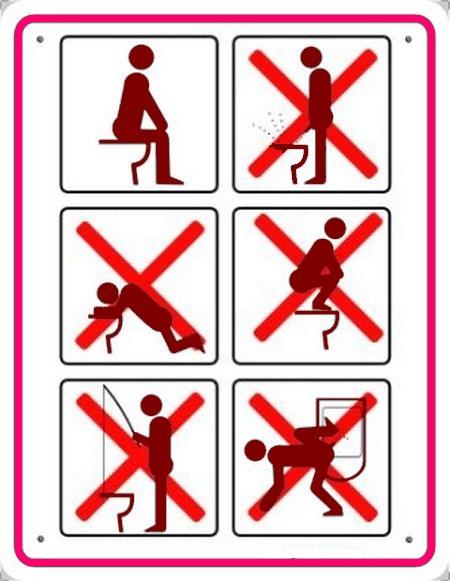 image et texte humoristique pour toilettes party