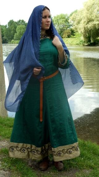 le costume franc  carolingien d u0026 39 ermelinde de tournai  u2014 la