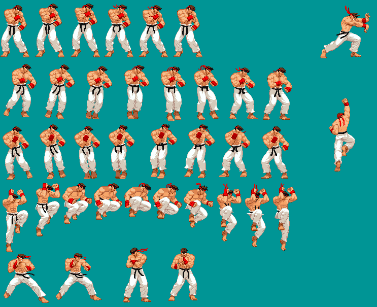 Pin Ryu-sprites on Pinterest