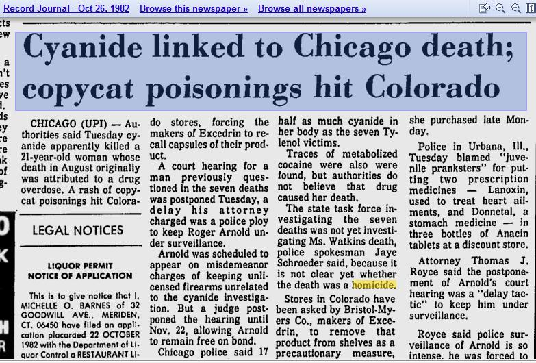 tylenol murders case study A post crisis study by johnson & johnson said that over 90 percent of the the tylenol case was the bases for many of the crisis communications.