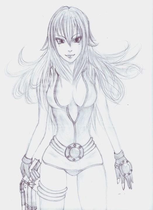 dessin femme manga